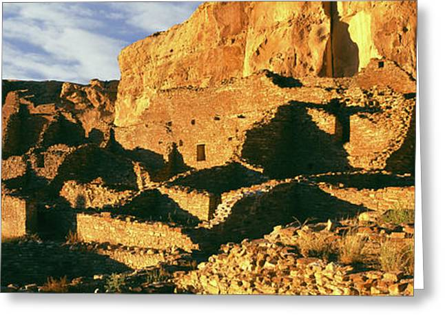 Old Ruins At Archaeological Site Greeting Card by Panoramic Images