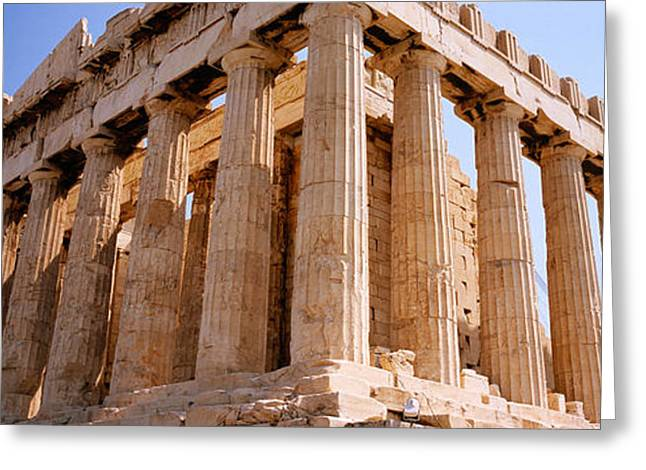 Old Ruins Of A Temple, Parthenon Greeting Card