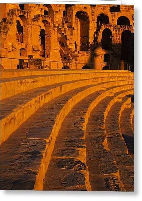 Old Ruins Of An Amphitheater, Roman Greeting Card by Panoramic Images