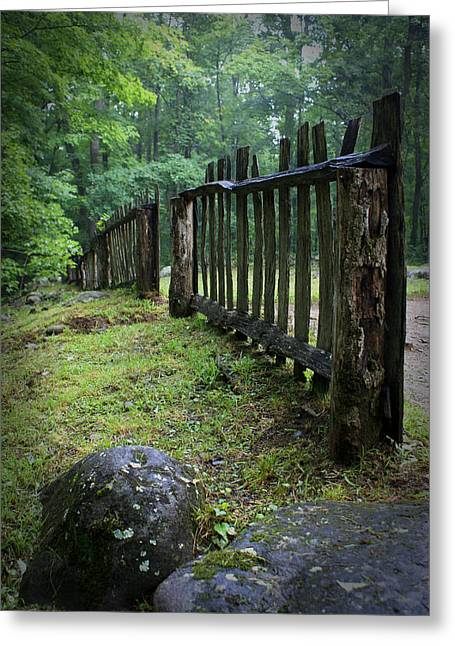 Old Rustic Fence Greeting Card