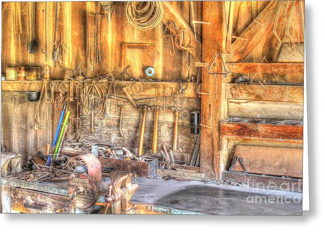 Old Rustic Workshop Greeting Card