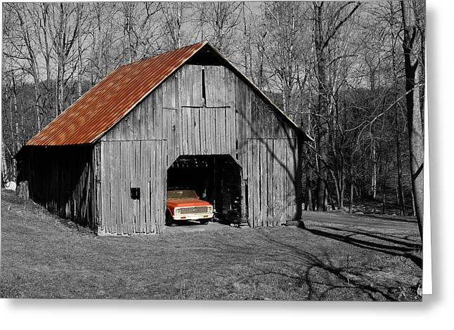 Old Rusty Barn  Greeting Card by Donald Williams