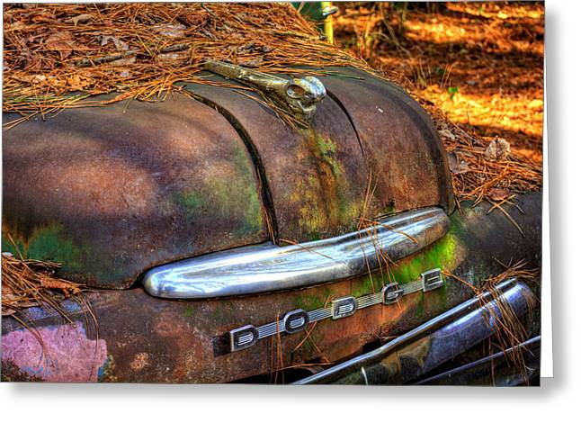 Old Rusty Dodge Greeting Card by Greg Mimbs