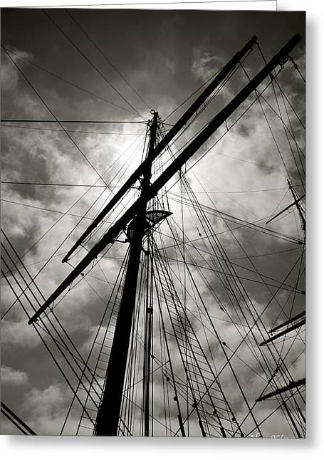 Old Sailing Ship Greeting Card by Alex King