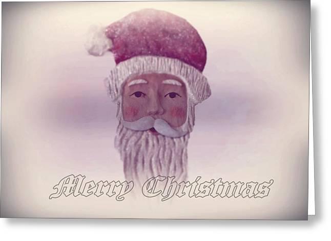 Old Saint Nicholas Greeting Card Greeting Card by David Dehner
