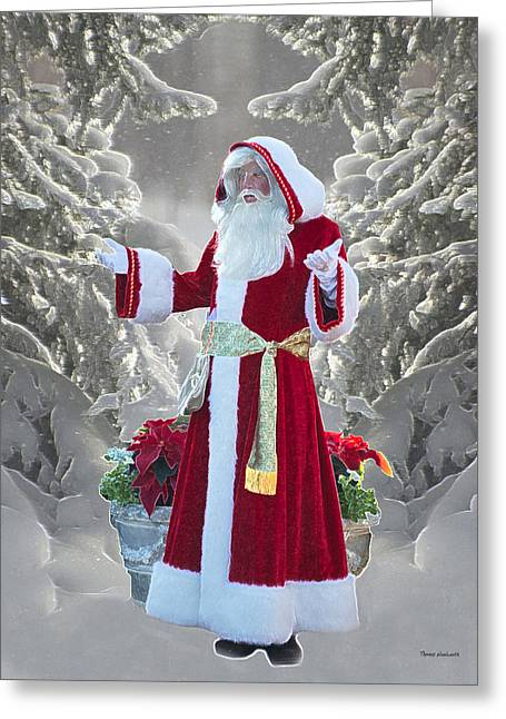 Old Saint Nick Greeting Card by Thomas Woolworth
