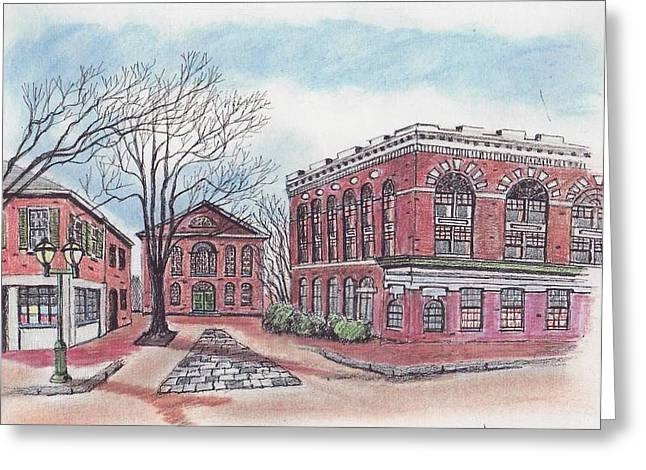 Old Salem City Hall Greeting Card