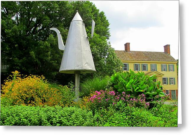 Old Salem Giant Coffee Pot Greeting Card