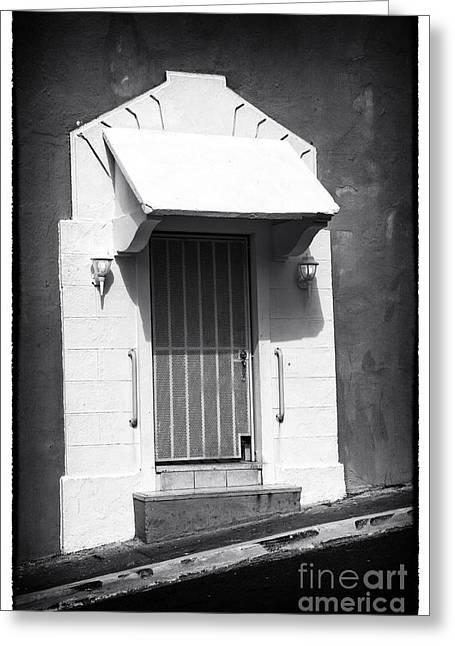 Old San Juan Door Greeting Card by John Rizzuto
