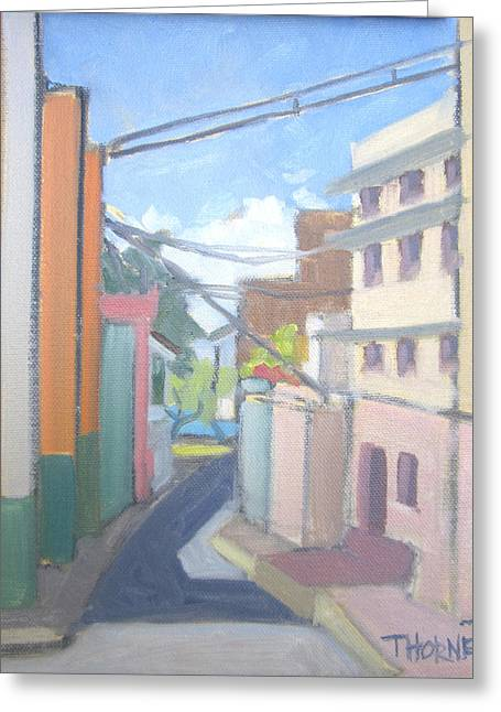 Old San Juan Greeting Card by Marcus Thorne