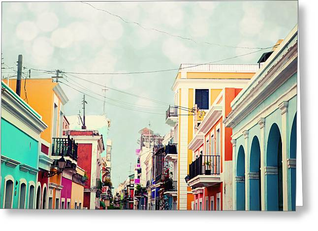 Greeting Card featuring the photograph Old San Juan Special Request by Kim Fearheiley
