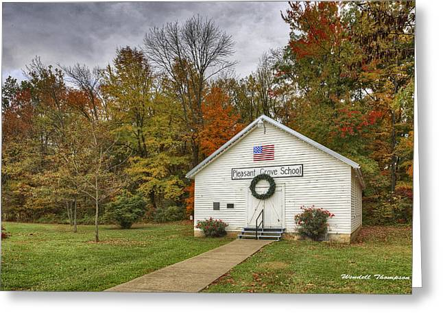 Old School House At Panther Creek Greeting Card
