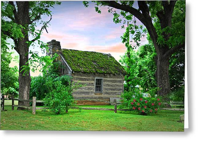 Old School House Greeting Card by Mary Timman