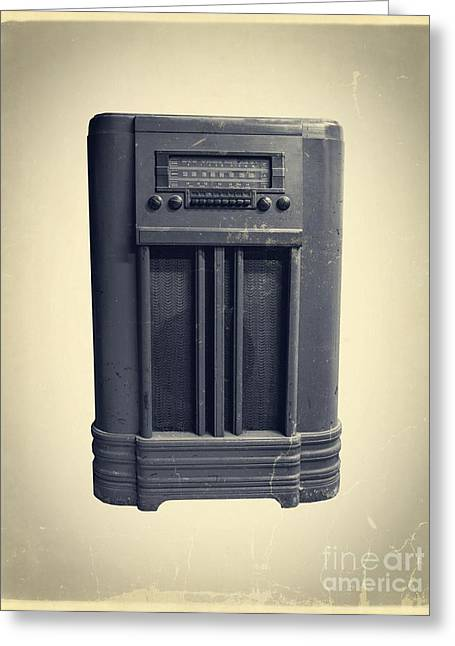 Old School Ipod Greeting Card by Edward Fielding