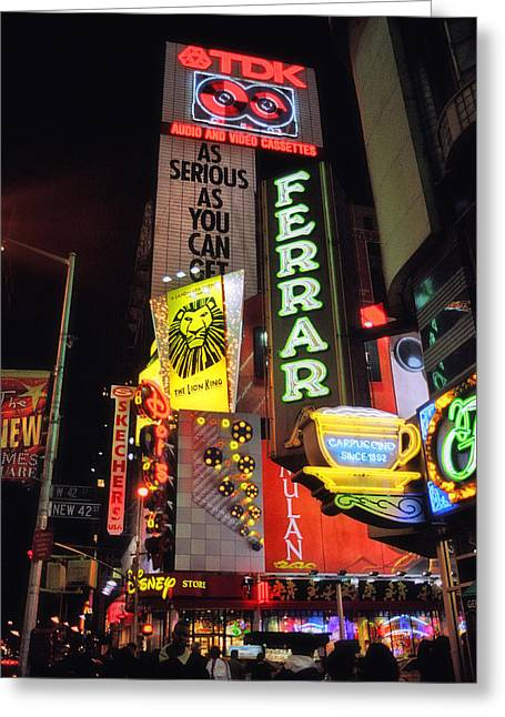 Old School Neon New York Greeting Card