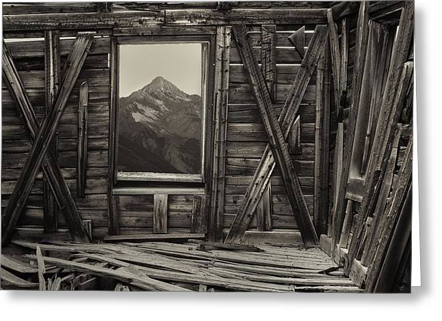 Old School Wilson Picture Frame Greeting Card by Mike Berenson