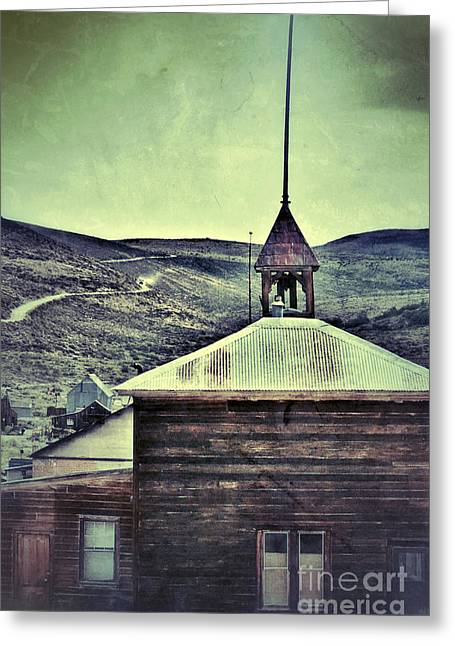 Old Schoolhouse Greeting Card by Jill Battaglia