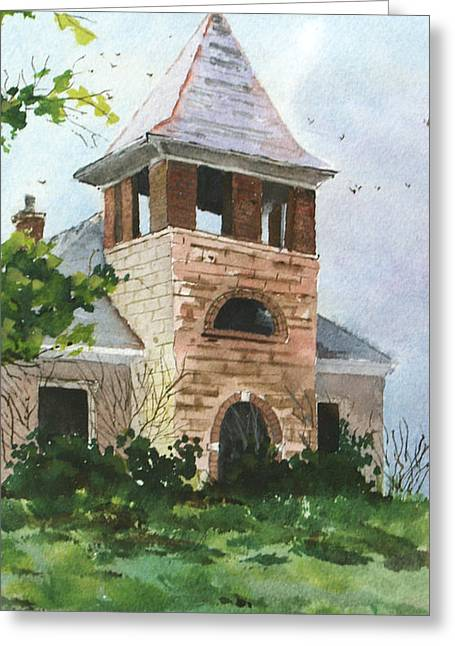 Old Schoolhouse Greeting Card by Susan Crossman Buscho