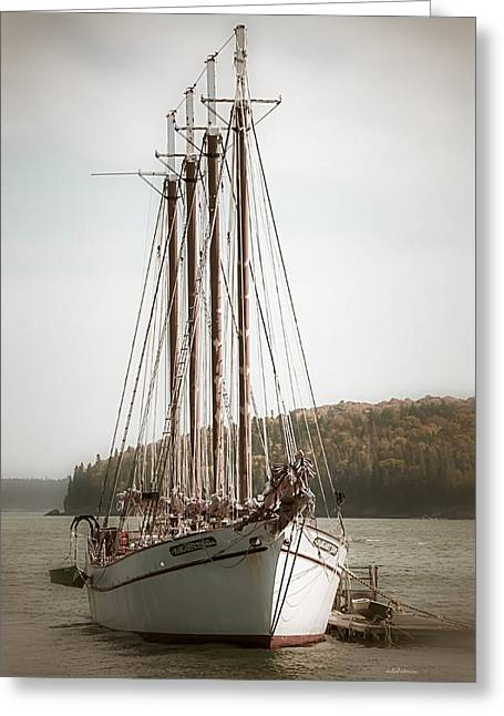 Old Schooner Greeting Card