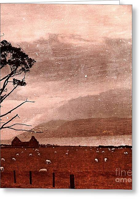 Old Scottish Bothy Greeting Card by Callan Percy