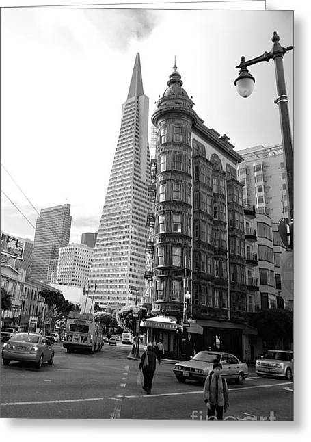 Old Sentinel - New Transamerica Greeting Card by David Bearden