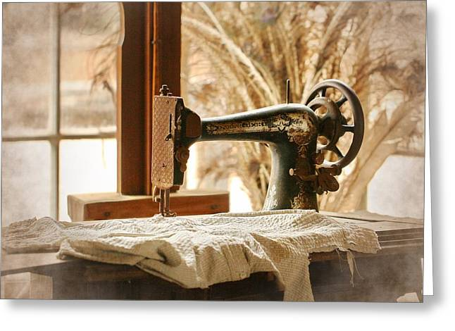 Old Sewing Machine Greeting Card