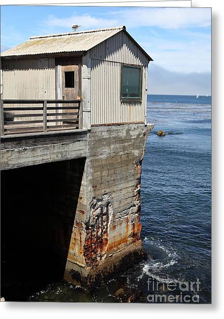 Old Shack Overlooking The Monterey Bay In Monterey Cannery Row California 5d25062 Greeting Card