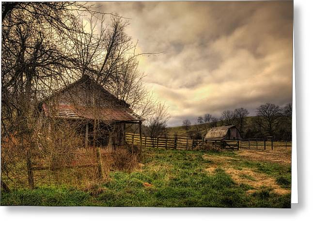Old Shed And Barn At Osage Greeting Card
