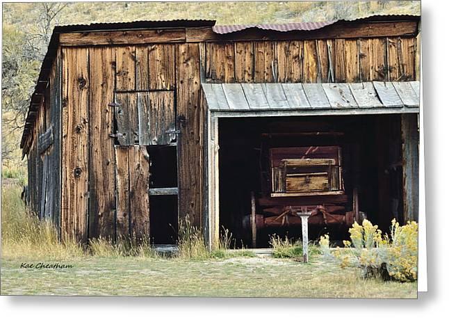 Old Shed And Wagon Greeting Card by Kae Cheatham
