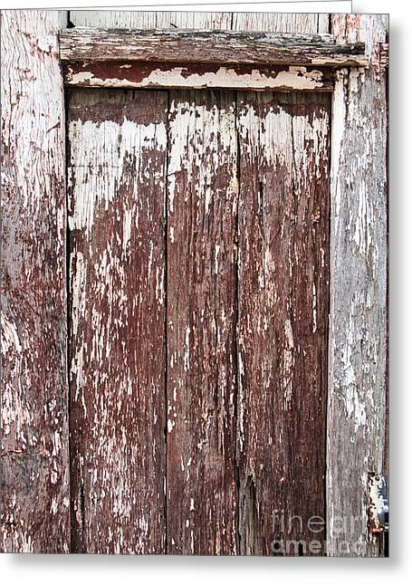 Greeting Card featuring the digital art Old Shed Door by Fran Woods