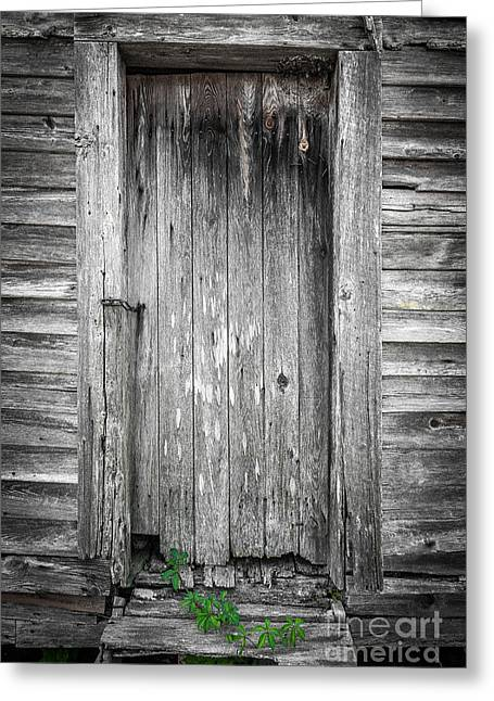 Greeting Card featuring the photograph Old Shed Door by Marion Johnson