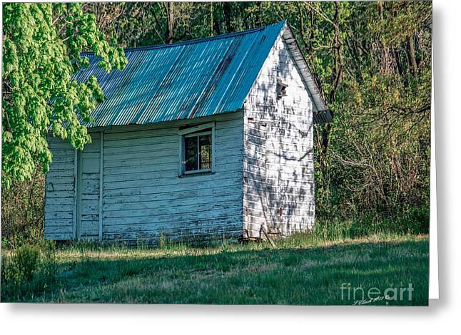 Old Shed Greeting Card by Timothy Clinch
