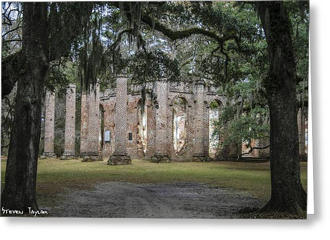 Old Sheldon Church  Greeting Card by Steven  Taylor