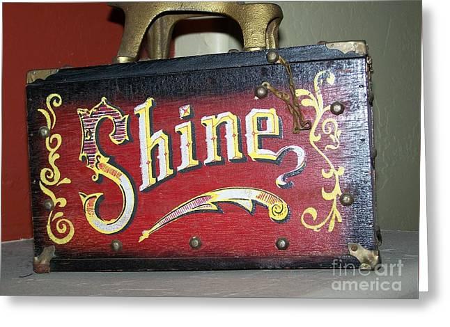 Old Shoe Shine Kit Greeting Card