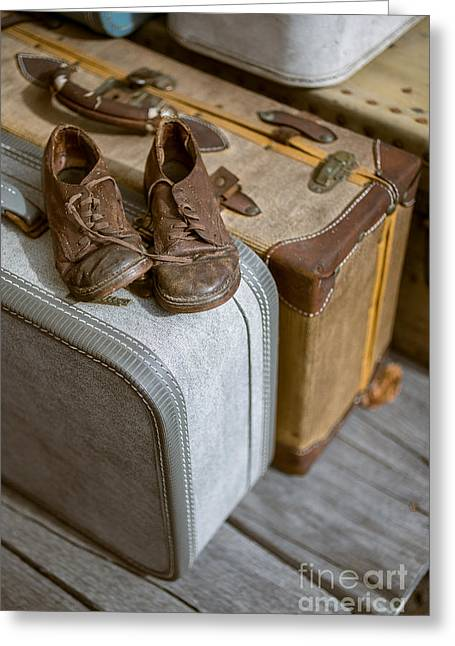 Old Shoes And Packed Bags Greeting Card