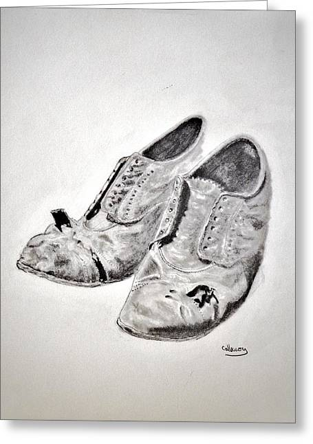 Old Shoes Greeting Card by Glenn Calloway