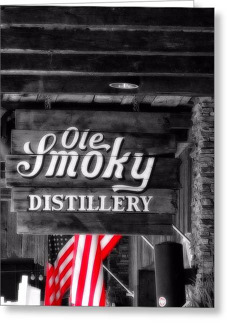 Old Smoky Distillery An American Pastime Greeting Card by Dan Sproul
