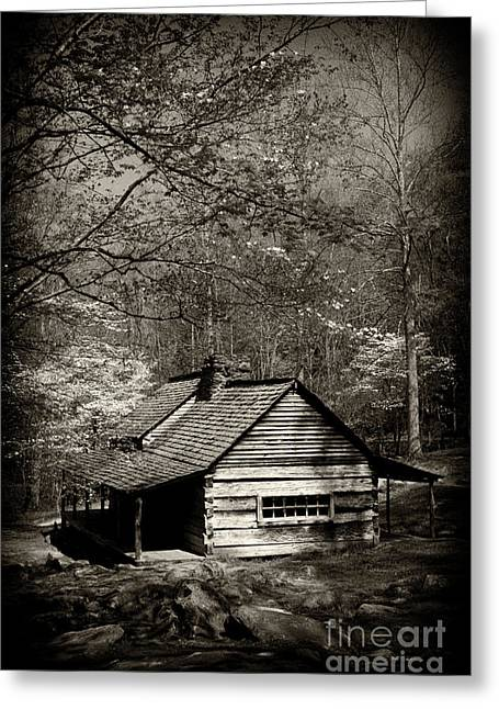Old Smoky Mtn Cabin Greeting Card