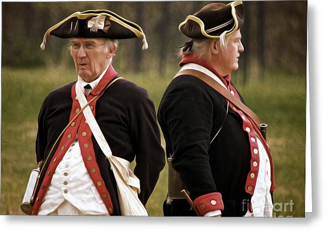 Old Soldiers Greeting Card by Mark Miller