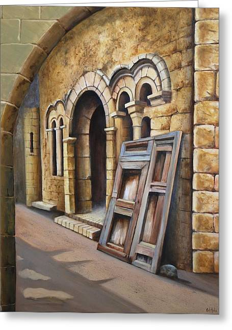 Old Spanish Monastery Greeting Card by Rich Kuhn