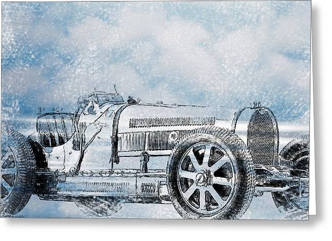 Old Sport Car Greeting Card