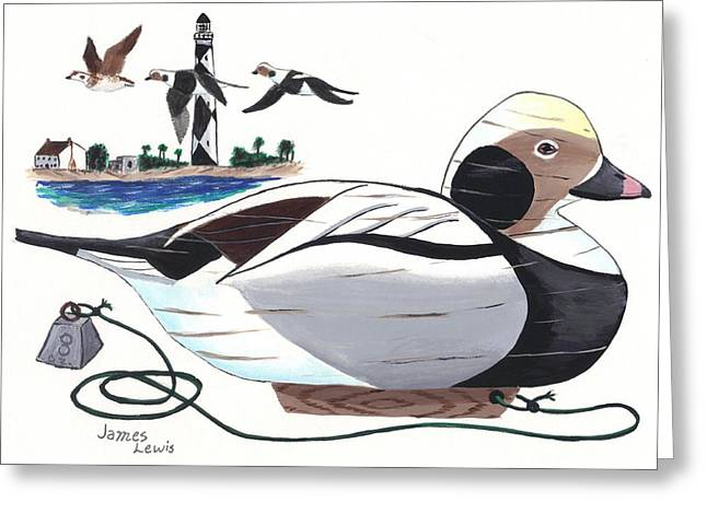 Old Squaw Decoy  Greeting Card by James Lewis