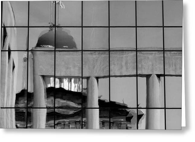 Old State Capitol Reflection Greeting Card by Sue Houston