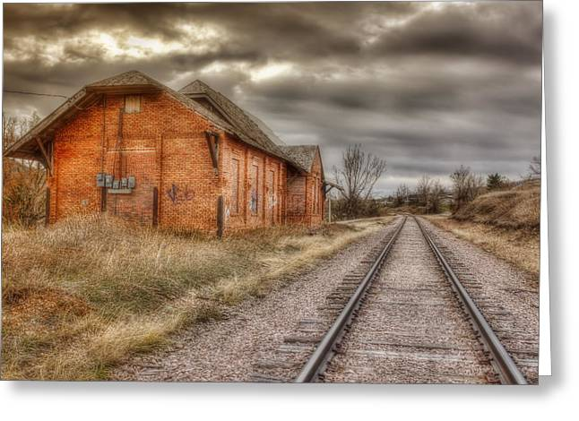 Old Station Greeting Card by Michele Richter