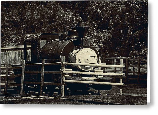 Old Steam Locomotive  Greeting Card by Maria Angelica Maira