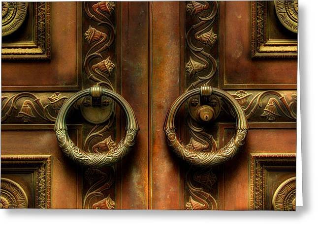 Old Steel Door Greeting Card