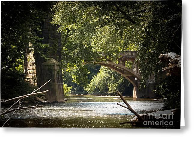 Old Stone Bridge Greeting Card