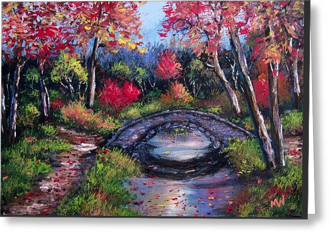 Old Stone Bridge Greeting Card