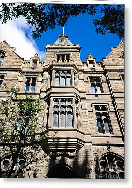 Old Stone Building Of Rmit University - Melbourne - Australia Greeting Card by David Hill