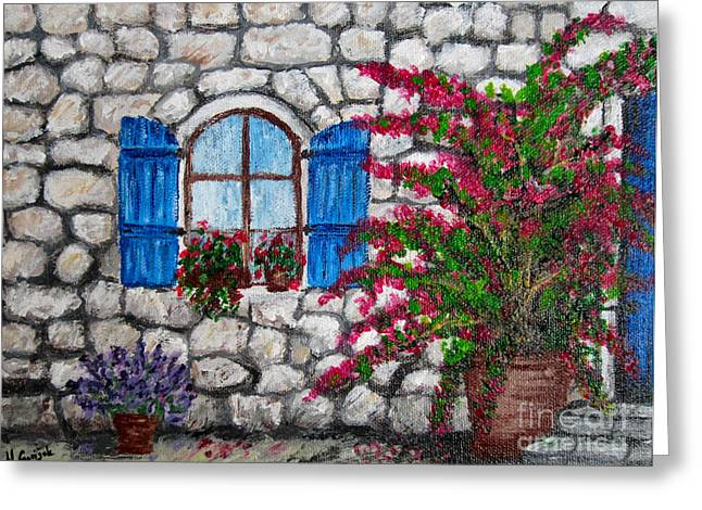 Old Stone House Greeting Card by Nikolina Gorisek